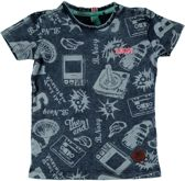 B. Nosy Jongens T-shirt - Skater blue - Maat 80