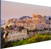 De Akropolis van Athene Aluminium 120x80 cm - Foto print op Aluminium (metaal wanddecoratie)