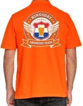 Kingsday Drinking Team poloshirt heren -  heren polo -  Koningsdag kleding 2XL