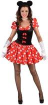 Miss Mouse - Minnie Muis jurkje met stippen en strikjes - maat 50/52