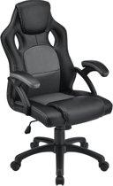 Luxe Design Bureaustoel - Gaming / Kantoor Bureaustoel - Ademend Materiaal - Zwart/Grijs
