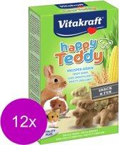 Vitakraft Happy Teddy Vita - Knaagdiersnack - 12 x 75 g