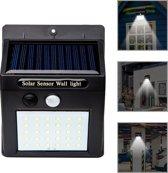 Automatische solar led lamp met bewegingssensor op zonne-energie| tuinverlichting | Met 30 led lampen | tuin spot voor hek / muur / wand