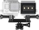 Matchbox-videolamp Fashlight met houder voor GoPro HERO6 / 5/5 sessie / 4 sessie / 4/3 + / 3/2/1, Xiaoyi en andere actiecamera's