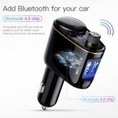Bluetooth Carkit|Handsfree bellen|MP3 Speler|USB Oplader|FM Transmitter