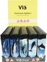 Dolfijn Klik aanstekers 50 stuks in tray navulbaar electronic lighters- Vio deal (high quality)