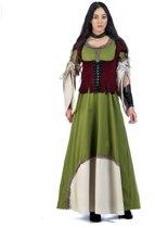 Middeleeuwen & Renaissance Kostuum | Middeleeuwse Gegoede Burgerij Holland | Vrouw | Maat 46 | Carnaval kostuum | Verkleedkleding