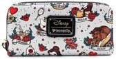 Disney portemonnee - Loungefly collectie -Belle Tattoo Zip Around Wallet - Belle en het Beest / Beauty & the Beast