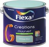 Flexa Creations - Muurverf Extra Mat - Vintage Blue - 2,5 liter