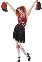 Zombie Cheerleader kostuum voor dames Halloween outfit - Verkleedkleding - Small