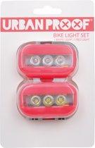 URBAN PROOF - Clip Fietslampjes set - Kreeft rood