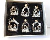 Kersthangers glas 6 stuks in doos