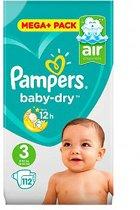 Pampers Baby-Dry - Maat 3 - 5-9 kg - Maandbox 112 Stuks - Luiers