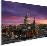 Zonsondergang over het Pantheon met een mooie paarse lucht Plexiglas 120x80 cm - Foto print op Glas (Plexiglas wanddecoratie)