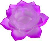 Sfeerlicht - Lotus - glas - paars/roze - 12 cm