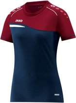 Jako Competition 2.0 Dames T-Shirt - Voetbalshirts  - blauw donker - 44