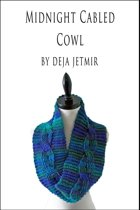 Midnight Cabled Cowl