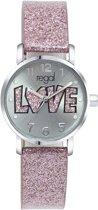 Regal - Regal glitter meisjes horloge roze