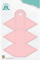 Nellies Snellen Wrapping snijmal die doosje gift box - 4 driehoek WPD004