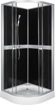 Sanifun complete douchecabine Nolan 900 x 900 zwart