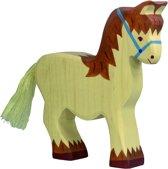 Holztiger Houten Lopend Paard Beige