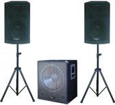 Ibiza Sound CUBE1812 2.1kanalen 1800W Zwart luidspreker set