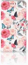 Huawei Mate 10 Pro Uniek Boekhoesje Butterfly Roses