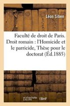 Facult� de Droit de Paris. Droit Romain