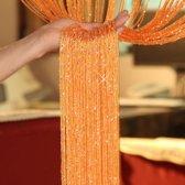 glitter gordijn draadgordijn decoratie koord gordijn oranje goudkleurig
