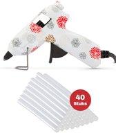 Lijmpistool inclusief 40x lijmsticks – Glue Gun-  Hobby   Knutselen   Creatief   – Bloemen Design – 7mm