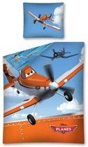 Disney Planes - Dekbedovertrek - Eenpersoons - 140x200 cm - Blauw