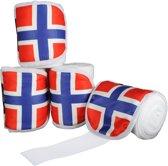 Polarfleecebandages -Flags- Set van 4 Vlag Noorwegen 300 cm