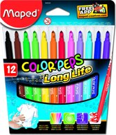 Color'peps goed uitwasbare viltstift x 12