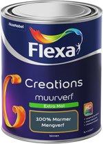 Flexa Creations - Muurverf Extra Mat - 100% Marmer - Mengkleuren Collectie- 1 Liter