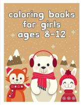 coloring books for girls ages 8-12: Funny Animals Coloring Pages for Children, Preschool, Kindergarten age 3-5