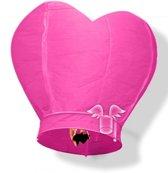Wensballon roze hart 100 cm