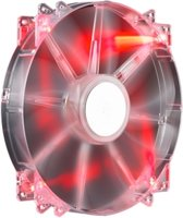 200x30mm,Sleeve,700rpm,Transprent RED LED Silent Fan