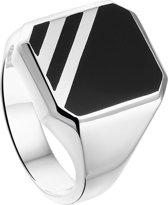The Jewelry Collection - Zilveren Zegelring met Onyx