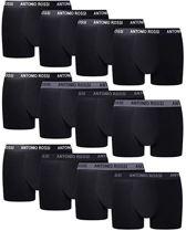 Antonio Rossi Boxershorts - 12 pack herenboxers - Zwart - Maat S