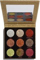 Makeup Revolution Pressed Glitter Palette - Midas Touch