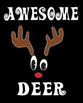 Awesome Deer: Deer Elk Antler Hunting Hobby 2020 Monthly Planner Dated Journal 8'' x 10'' 110 pages
