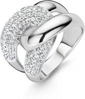 Ti Sento Milano 12029ZI Ring - Ring met stenen - Zilver witgoudverguld