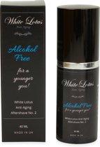 White Lotus Anti Aging Aftershave No. 2 – Alcoholvrije aftershave voor hem. Perfect voor de droge huid. Helpt bij het verminderen van rimpels en voorkomt een rode huid.