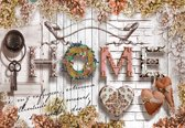 Fotobehang Home Flowers Vintage | XXL - 312cm x 219cm | 130g/m2 Vlies
