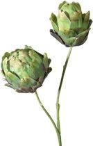 Viv! Home Luxuries Artisjok - zijden bloem - groen - topkwaliteit