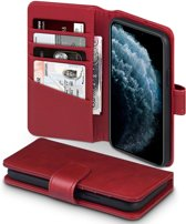 iPhone 11 Pro Bookcase hoesje - CaseBoutique - Effen Rood - Leer