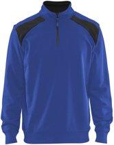 Blåkläder 3353-1158 Sweatshirt Bi-Colour met halve rits Korenblauw/Zwart maat XS