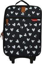 Kidzroom Black & White Trolley koffer Hearts