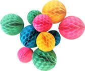 Honeycomb 20 en 15 cm - Honinggraatballen - Feestversiering 10 stuks - Kinderverjaardag versiering - Feestartikelen verjaardag - Feest decoratie - Kinderfeest versiering