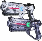 2 Light Battle laser pistolen camo grijs en wit | Lasergame Set